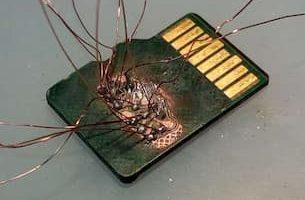 tarjeta micro sd dañada